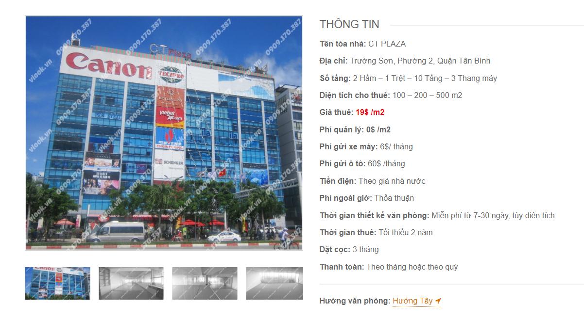 Danh sách công ty tại tòa nhà CT Plaza, Trường Sơn, Quận Tân Bình