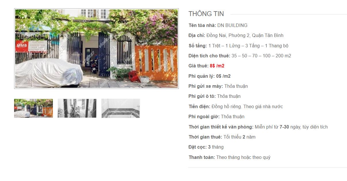 Danh sách công ty tại tòa nhà DN Building, Đồng Nai, Quận Tân Bình