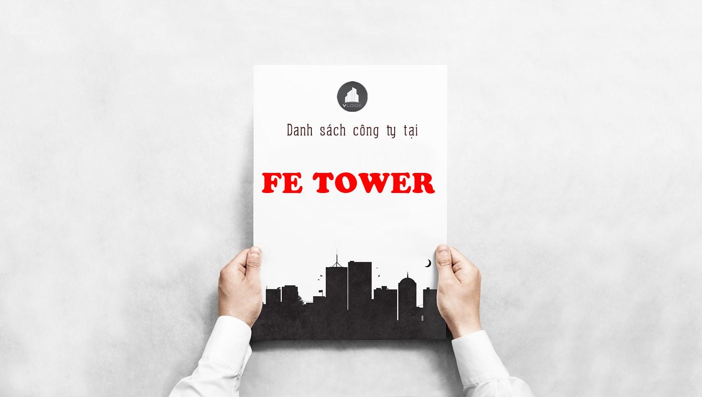 Danh sách công ty tại tòa nhà FE Tower, Cộng Hòa, Quận Tân Bình