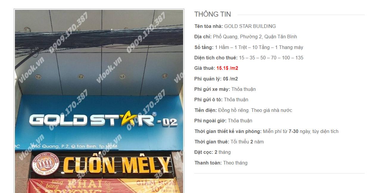 Danh sách công ty tại tòa nhà Gold Star Building, Phổ Quang, Quận Tân Bình