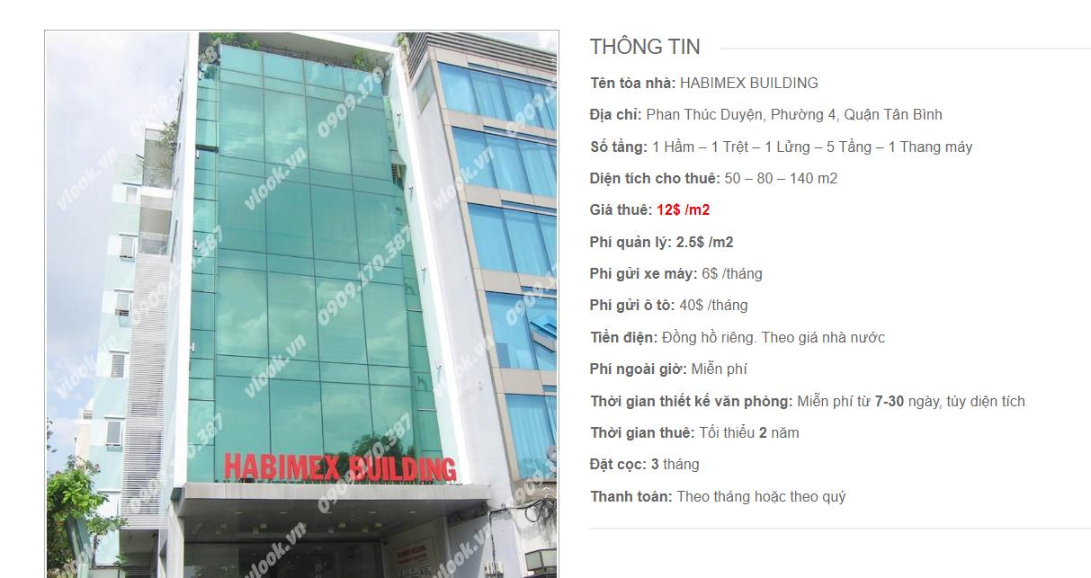 tòa nhà Habimex Building, Phan Thúc Duyện, Quận Tân Bình