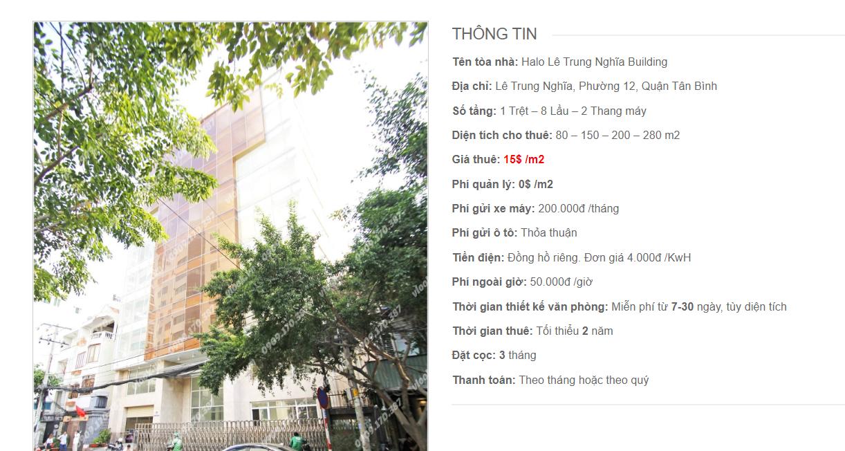 tòa nhà Halo Lê Trung Nghĩa Building, Lê Trung Nghĩa, Quận Tân Bình