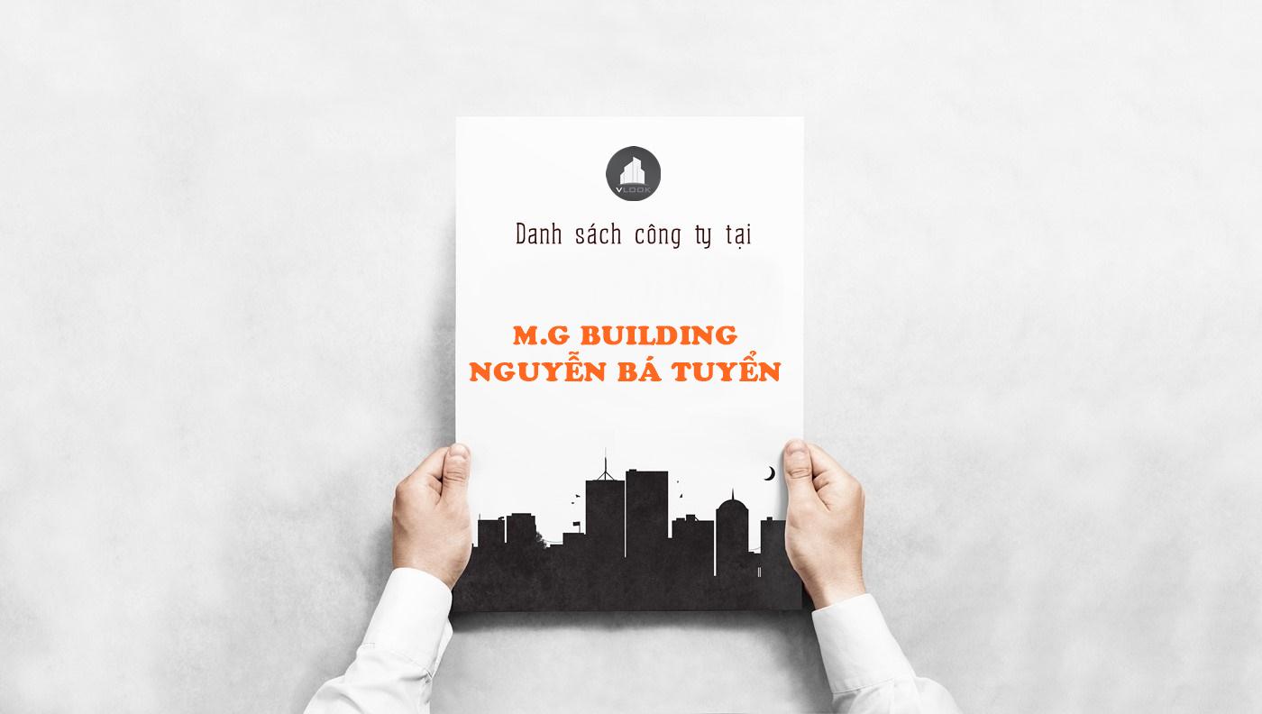Danh sách công ty tại tòa nhà M.G Building Nguyễn Bá Tuyển, Nguyễn Bá Tuyển, Quận Tân Bình