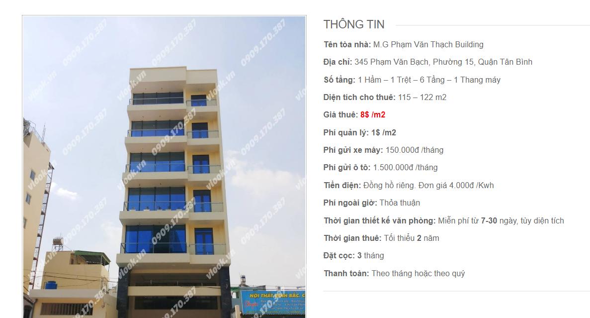 Danh sách công ty tại tòa nhà M.G Phạm Văn Bạch Building, Phạm Văn Bạch, Quận Tân Bình