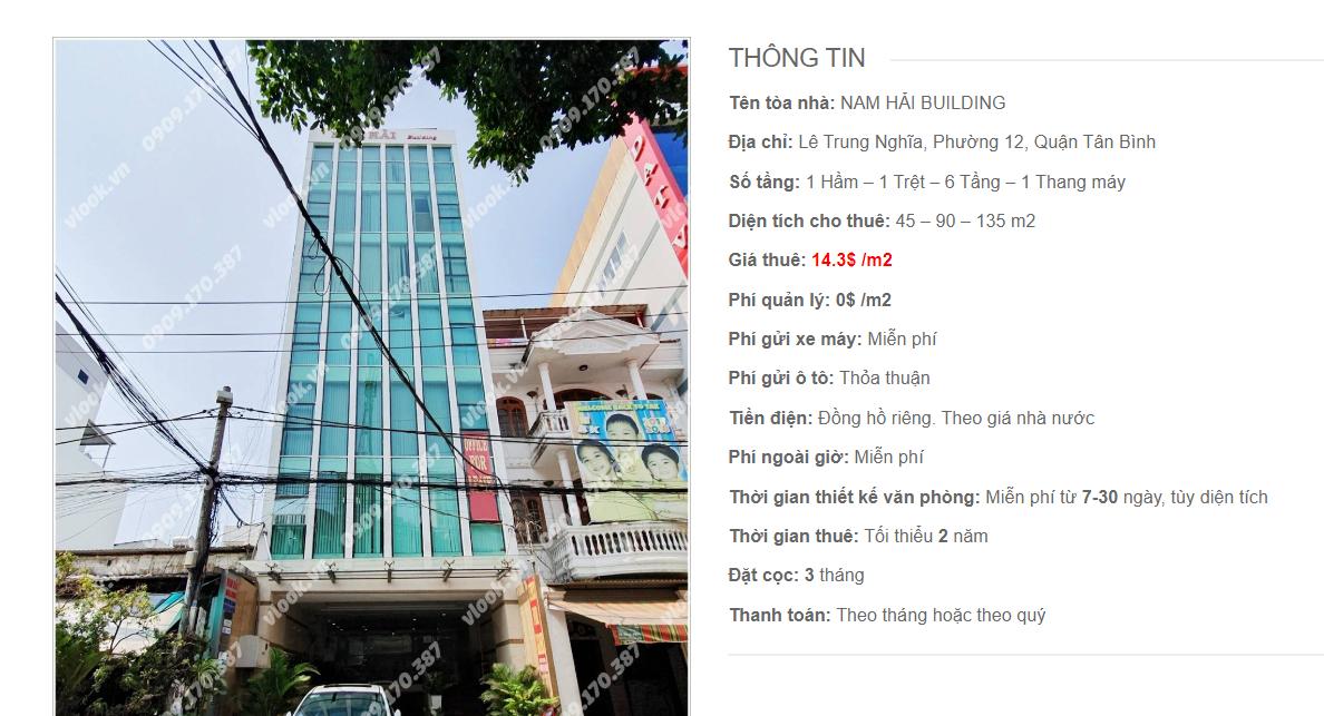 Danh sách công ty tại tòa nhà Nam Hải Building, Lê Trung Nghĩa, Quận Tân Bình