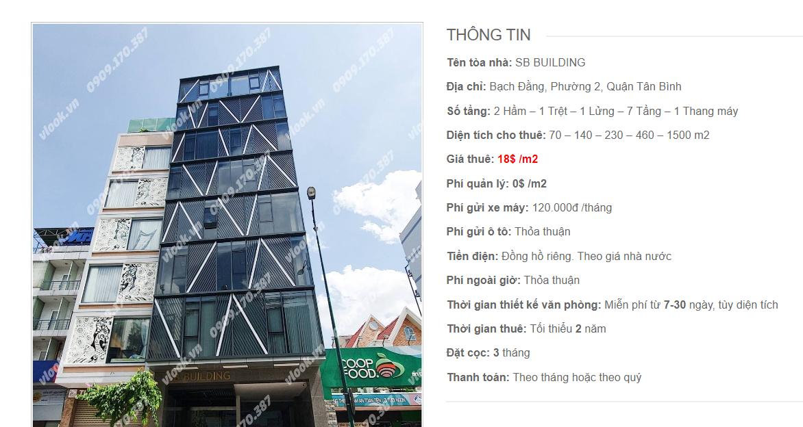 Danh sách công ty tại tòa nhà SB Building, Bạch Đằng, Quận Tân Bình