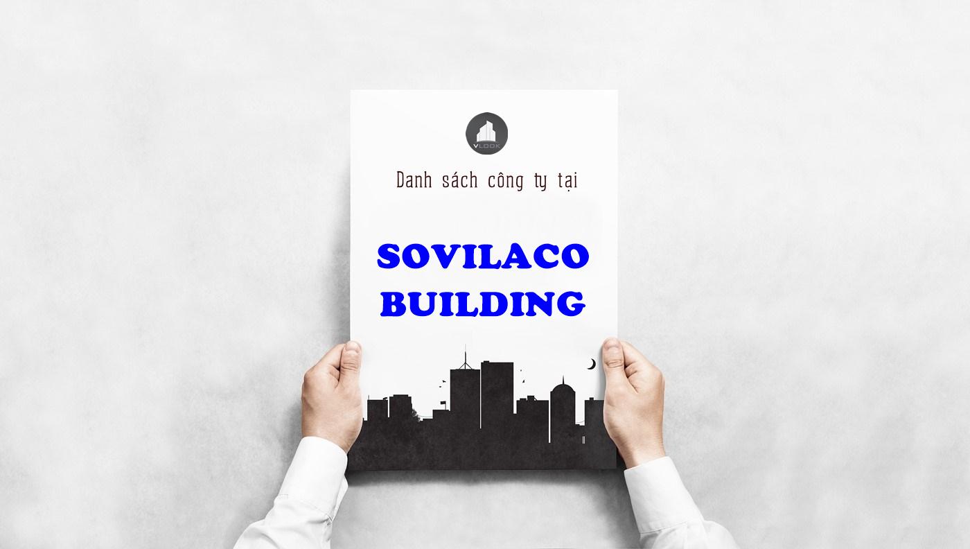 Danh sách công ty tại tòa nhà Sovilaco Building, Phổ Quang, Quận Tân Bình
