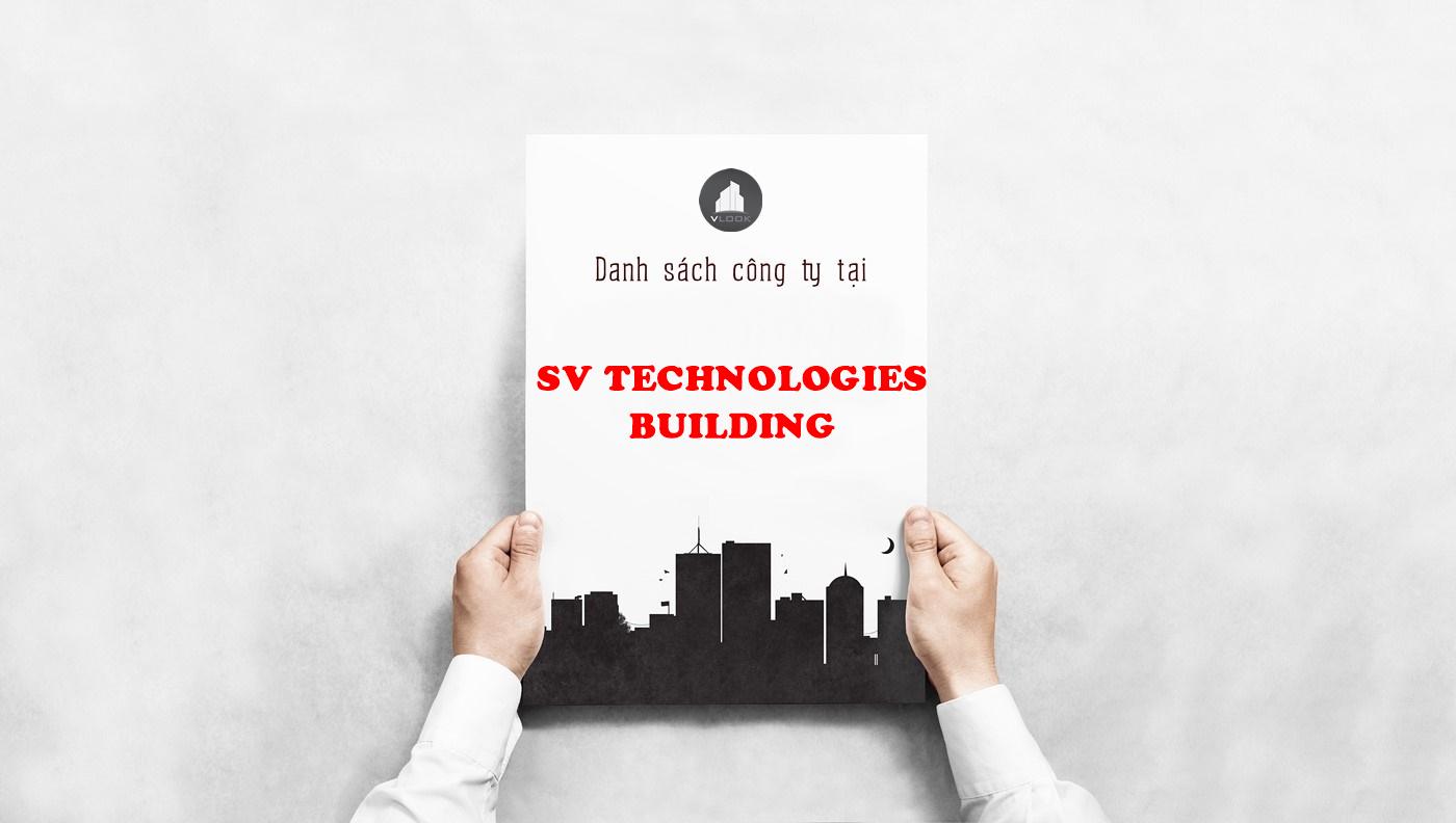 Danh sách công ty tại tòa nhà SV Technologies Building, Phan Thúc Duyện, Quận Tân Bình