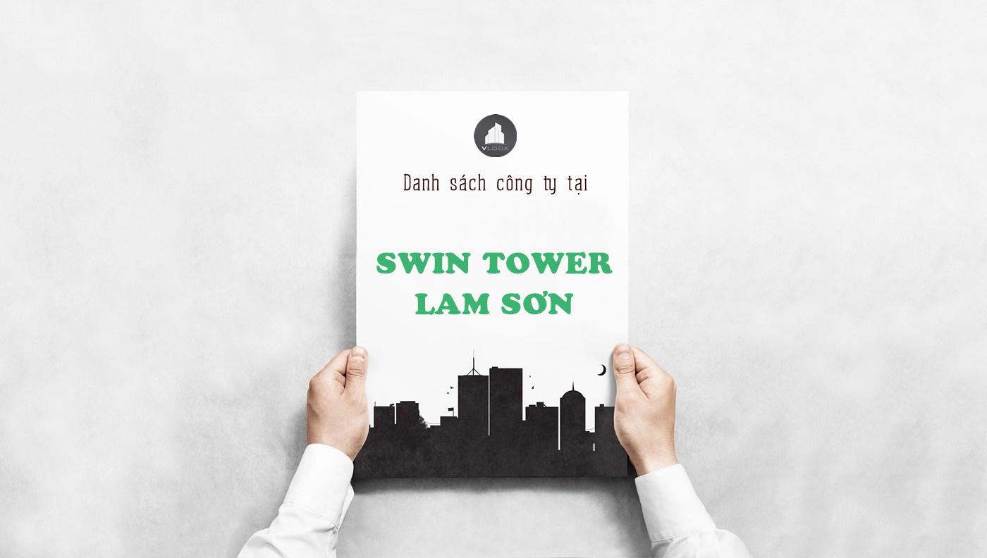 Danh sách công ty tại tòa nhà Swin Tower Lam Sơn, Lam Sơn, Quận Tân Bình