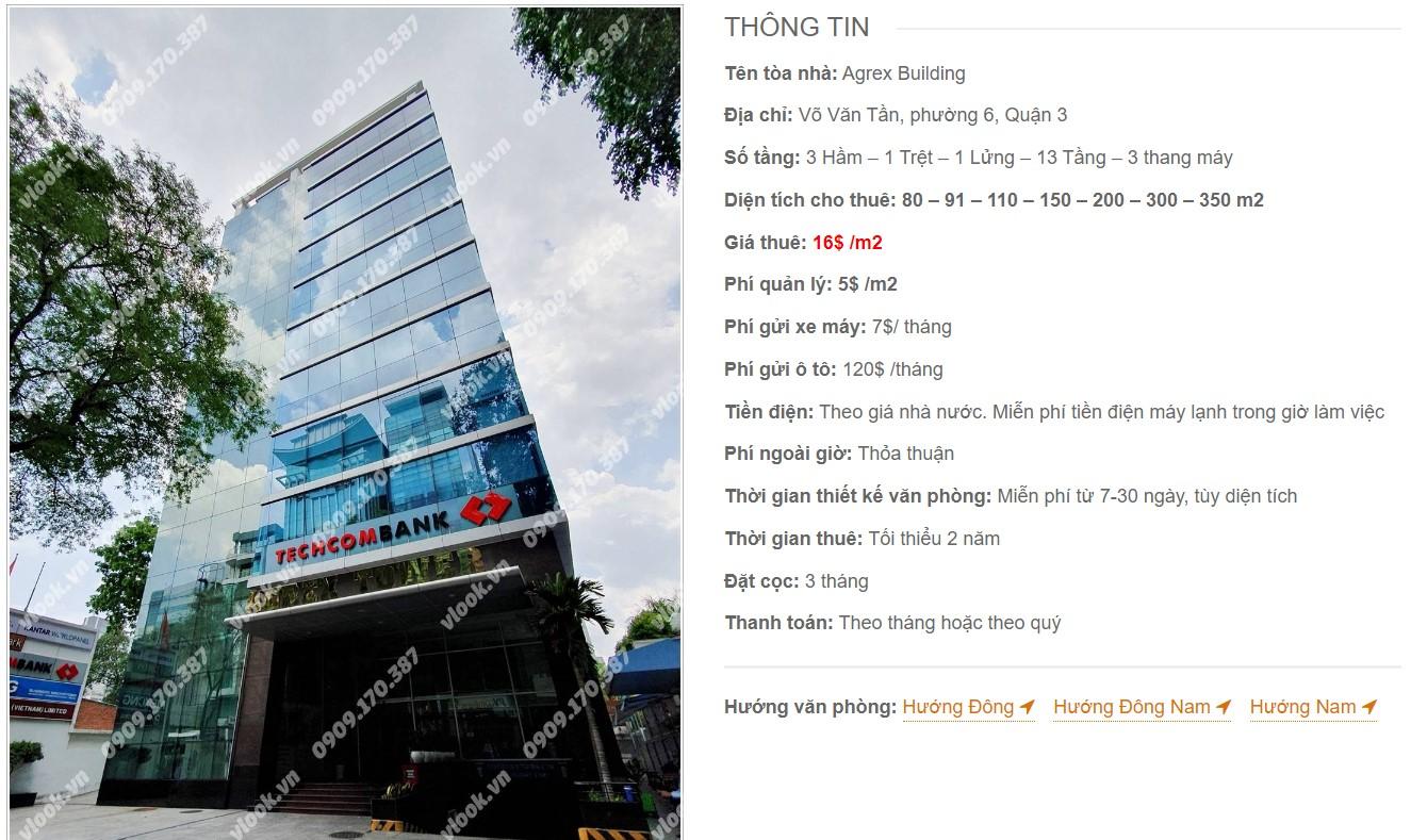 Danh sách công ty tại tòa nhà Agrex Building, Quận 3