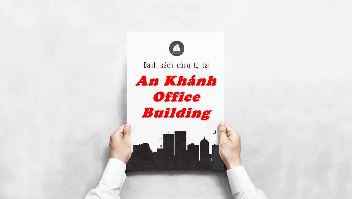Danh sách công ty tại tòa nhà An Khánh Office Building, Quận 3