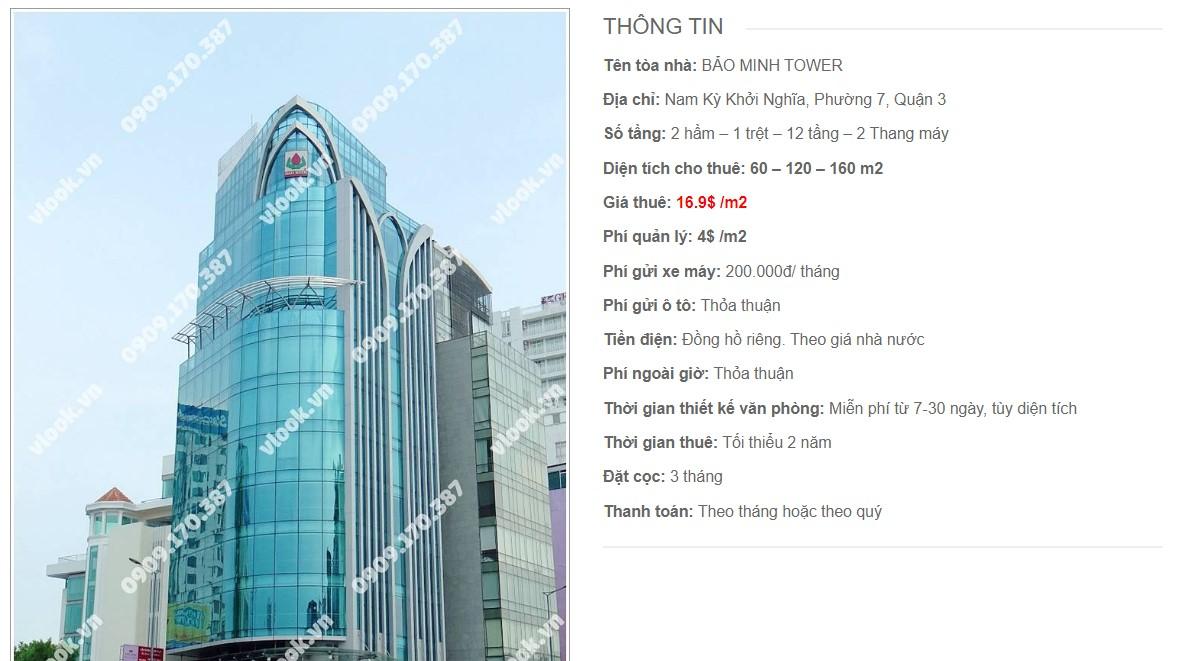 Danh sách công ty tại tòa nhà Bảo Minh Tower, Quận 3