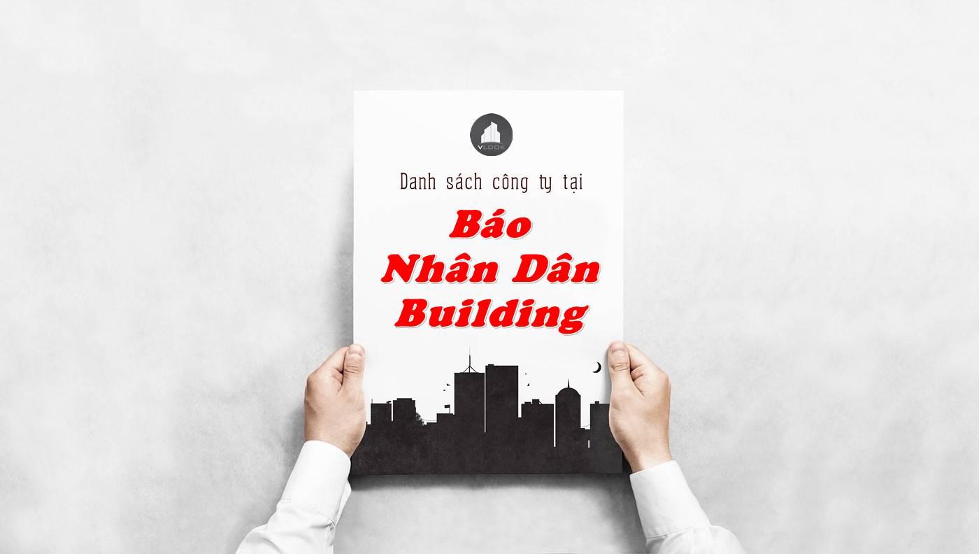 Danh sách công ty tại tòa nhà Báo Nhân Dân Building, Quận 3