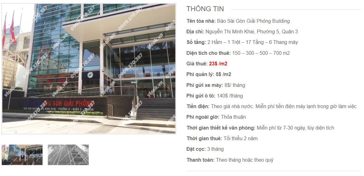 Danh sách công ty tại tòa nhà Báo Sài Gòn Giải Phóng Building, Quận 3