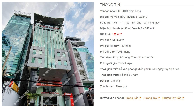 Danh sách công ty tại tòa nhà Bitexco Nam Long, Quận 3
