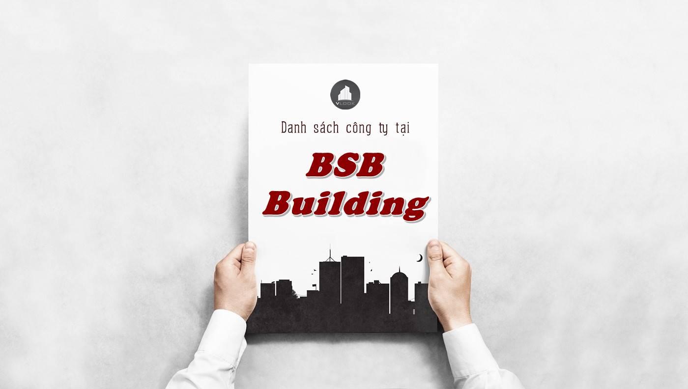 Danh sách công ty tại tòa nhà BSB Building, Quận 10