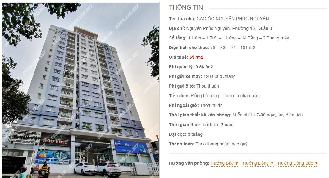 Danh sách công ty tại tòa nhà Cao ốc Nguyễn Phúc Nguyên, Quận 3