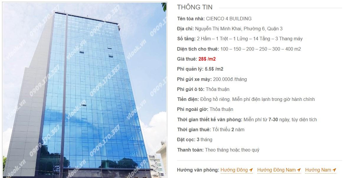Danh sách công ty tại tòa nhà Cienco 4 Building, Quận 3