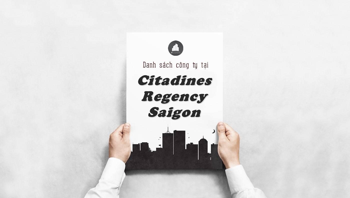 Danh sách công ty tại tòa nhà Citadines Regency Saigon, Quận 3