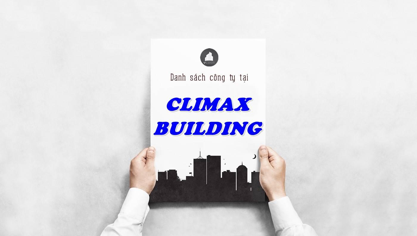 Danh sách công ty tại tòa nhà Climax Building, Quận 10
