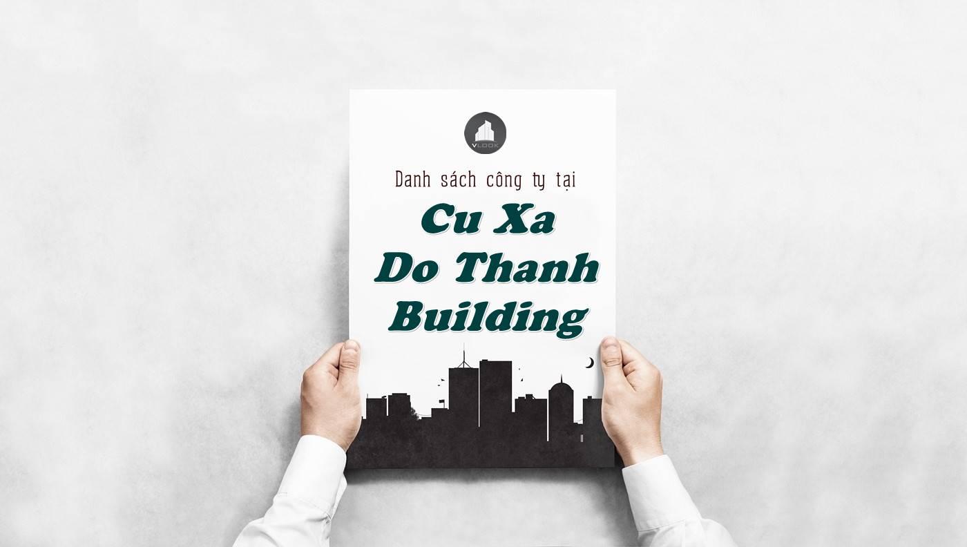Danh sách công ty tại tòa nhà Cư Xá Đô Thành Building, Quận 3