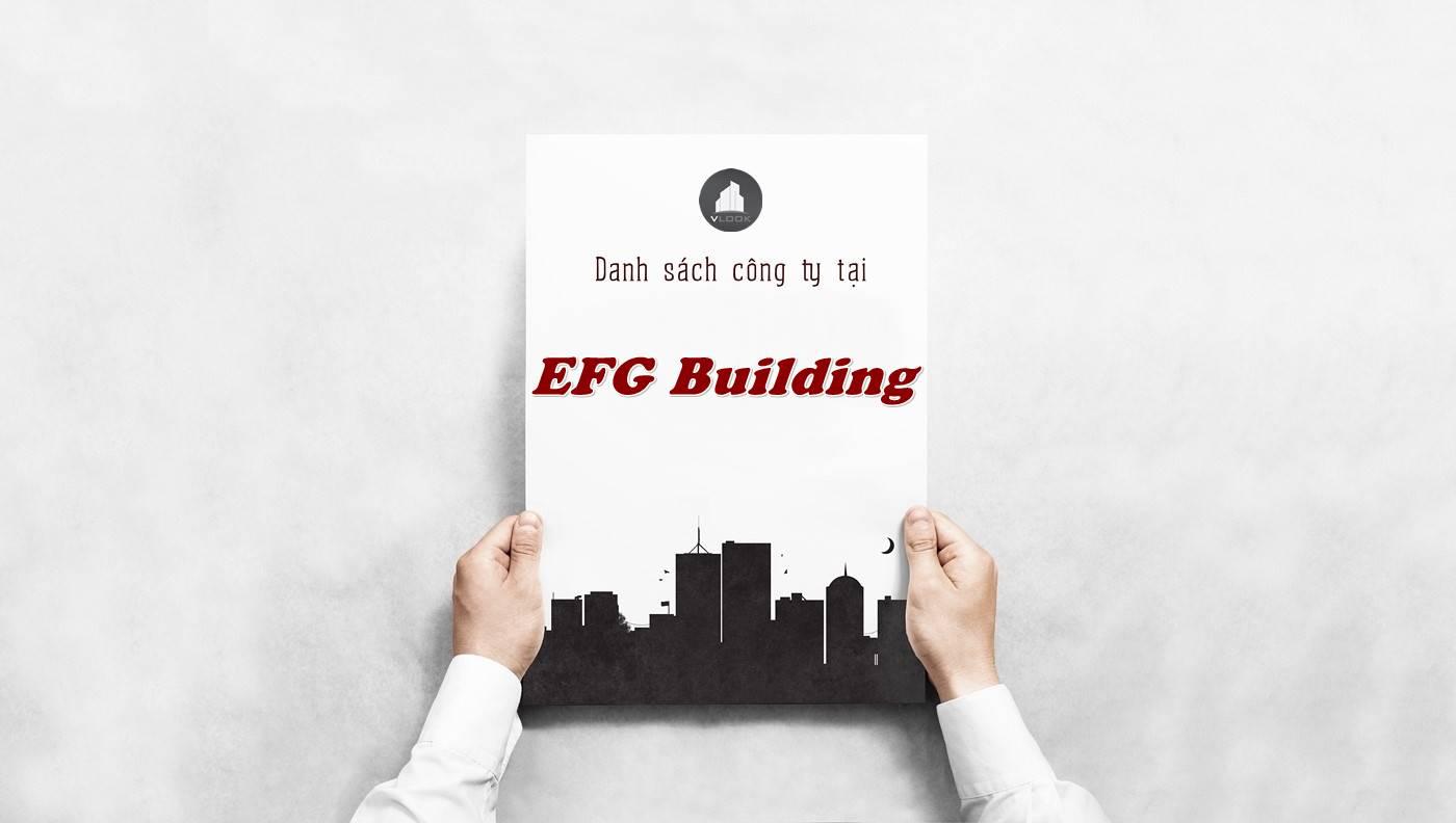 Danh sách công ty thuê văn phòng tại EFG Building, Quận 10