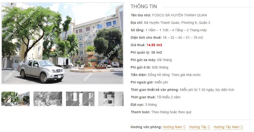 Danh sách công ty tại tòa nhà Fosco Bà Huyện Thanh Quan, Quận 3