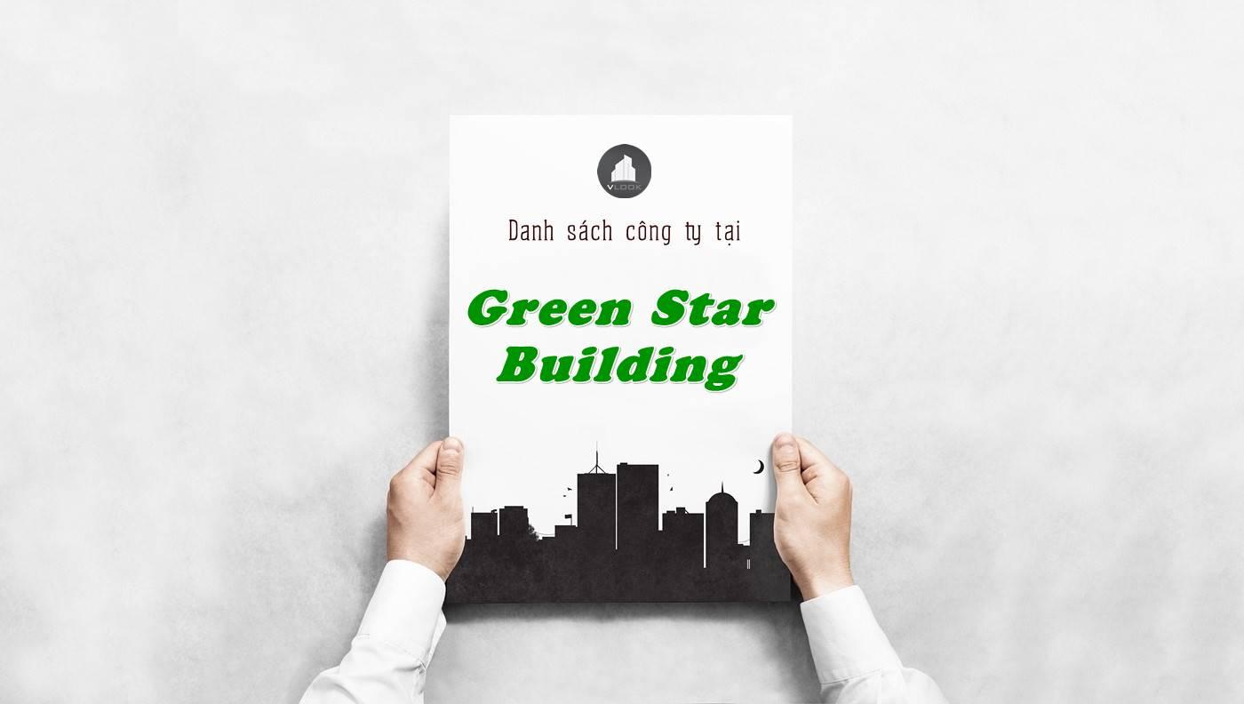 Danh sách công ty tại tòa nhà Green Star Building, Quận 3
