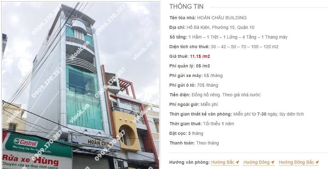 Danh sách công ty thuê văn phòng tại Hoàn Châu Building, Quận 10
