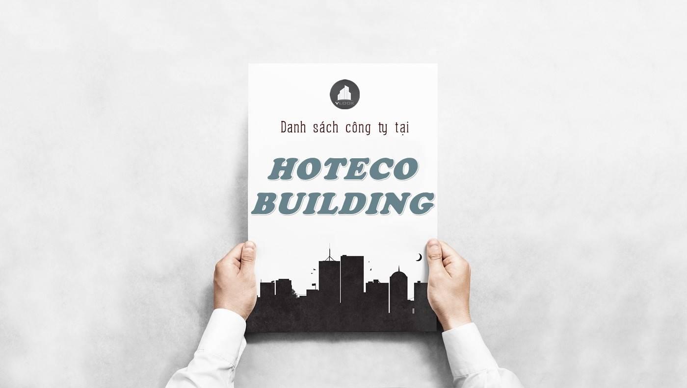 Danh sách công ty tại tòa nhà Hoteco Building, Quận Bình Thạnh