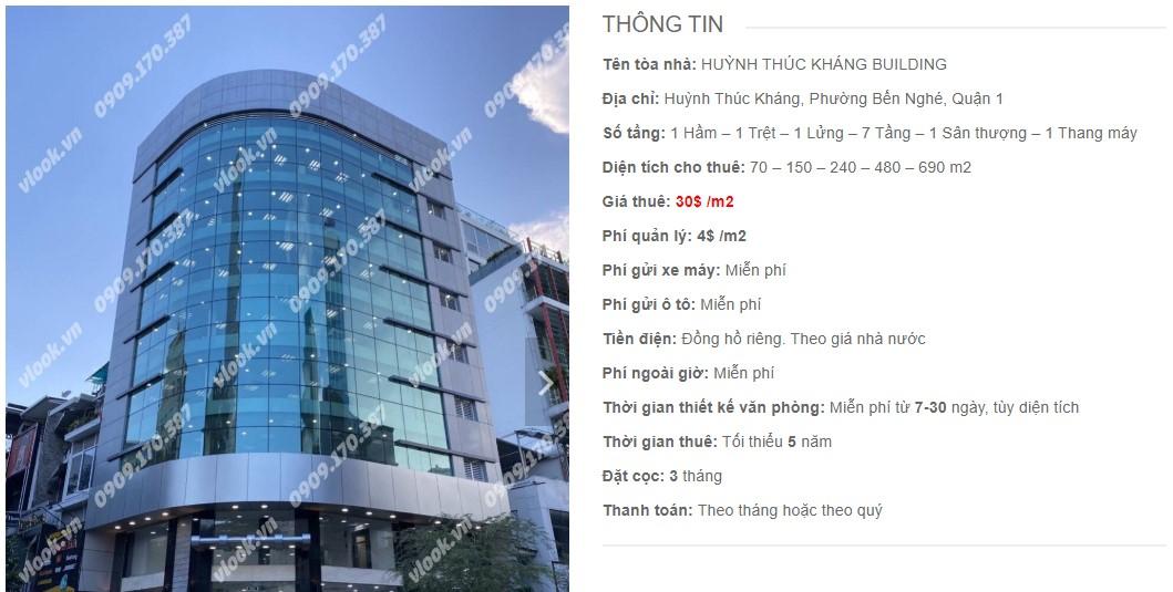 Danh sách công ty tại tòa nhà Huỳnh Thúc Kháng Building, Quận 1