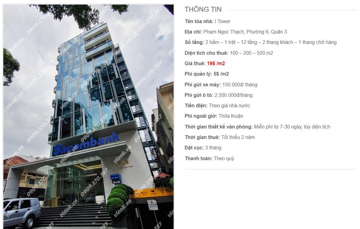 Danh sách công ty tại tòa nhà I Tower, Quận 3
