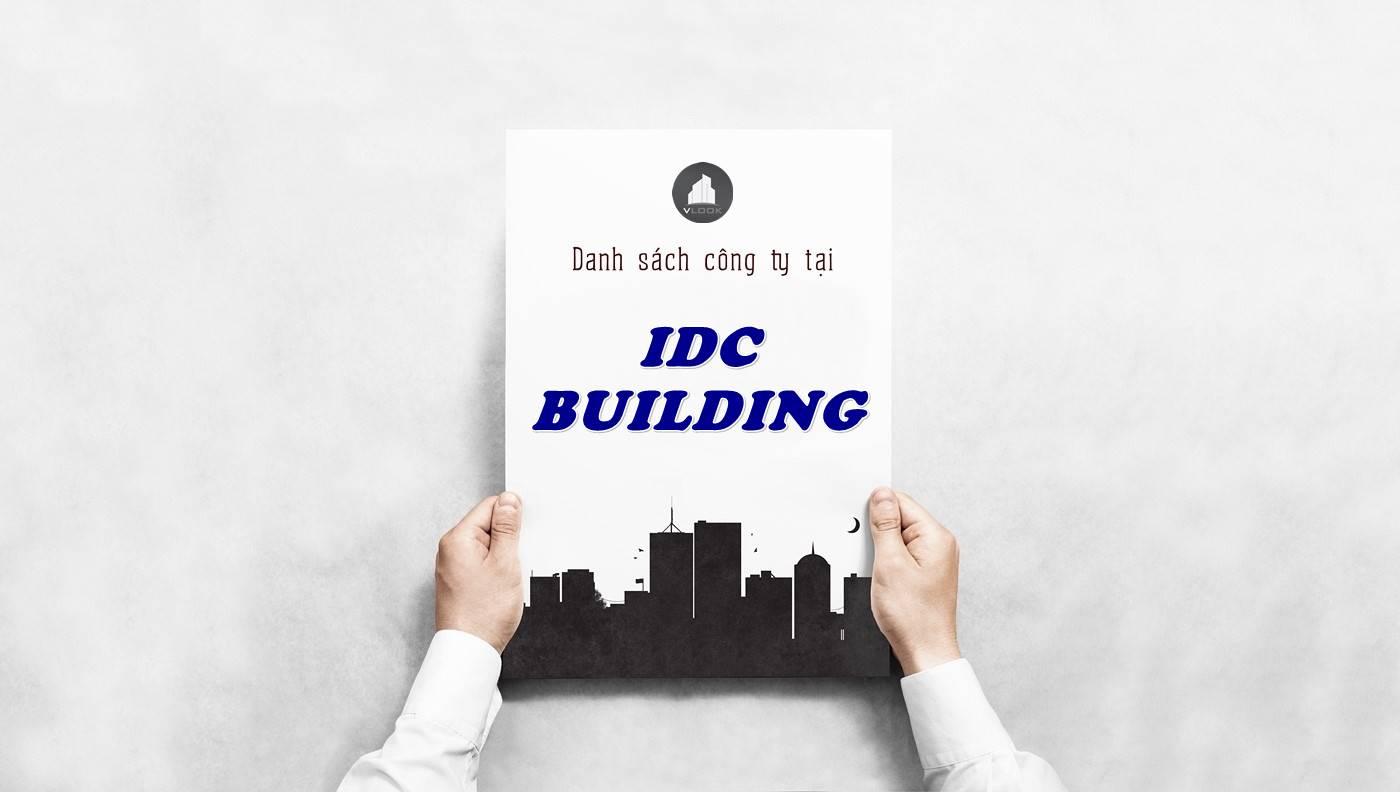 Danh sách công ty tại tòa nhà IDC Building, Quận 3
