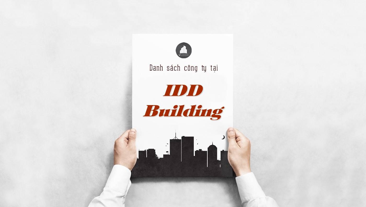 Danh sách công ty tại tòa nhà IDD Building, Quận 3