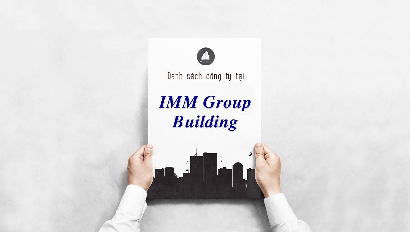 Danh sách công ty tại tòa nhà IMM Group Building, Quận 3