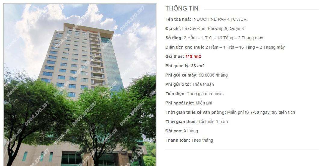 Danh sách công ty tại cao ốc Indochine Park Tower, Quận 3