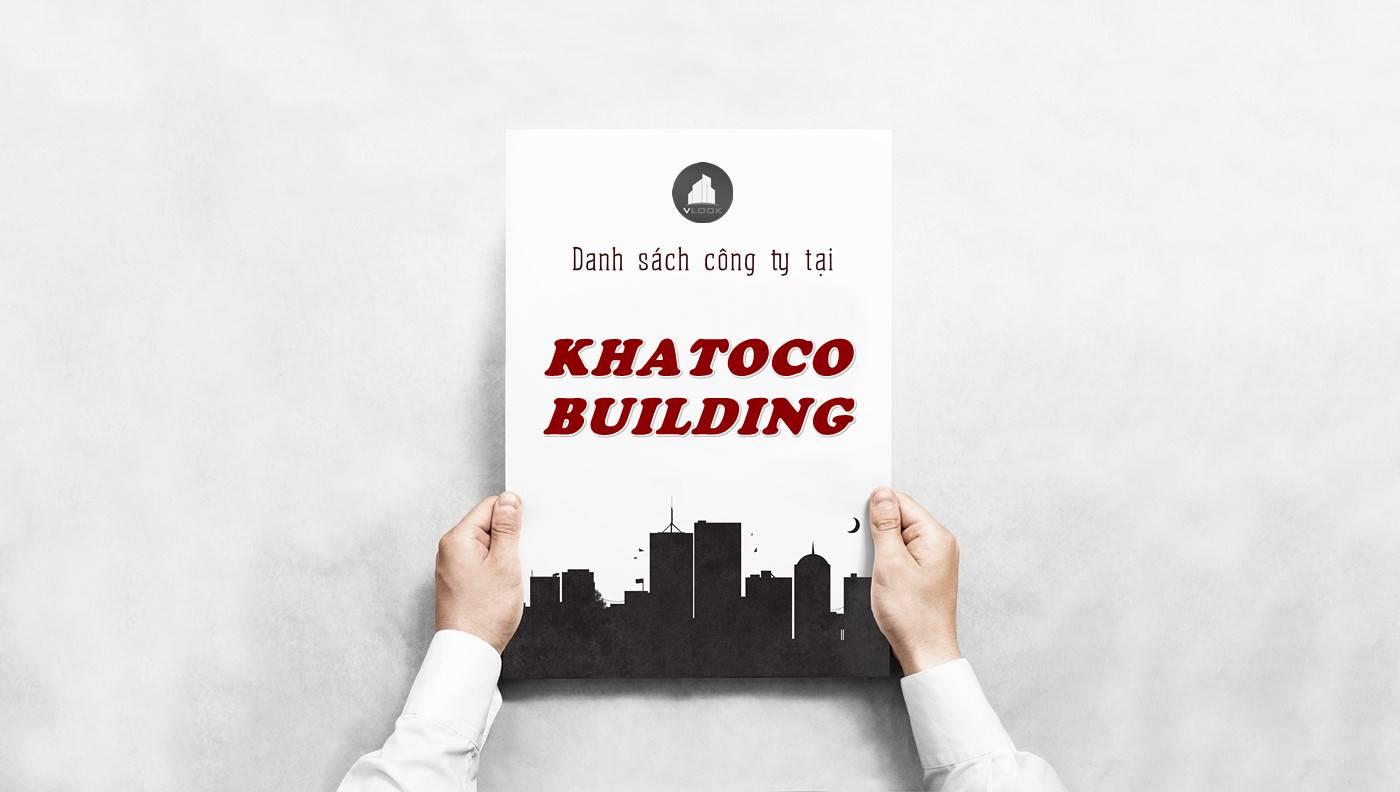 Danh sách công ty tại tòa nhà Khatoco Building, Quận 3