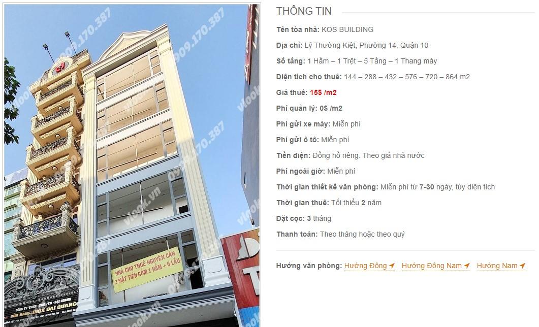 Danh sách công ty tại tòa nhà KOS Building, Quận 10