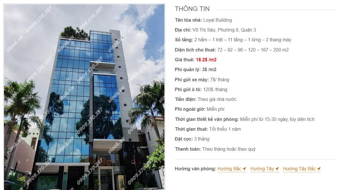 Danh sách công ty tại tòa nhà Loyal Building, Quận 3
