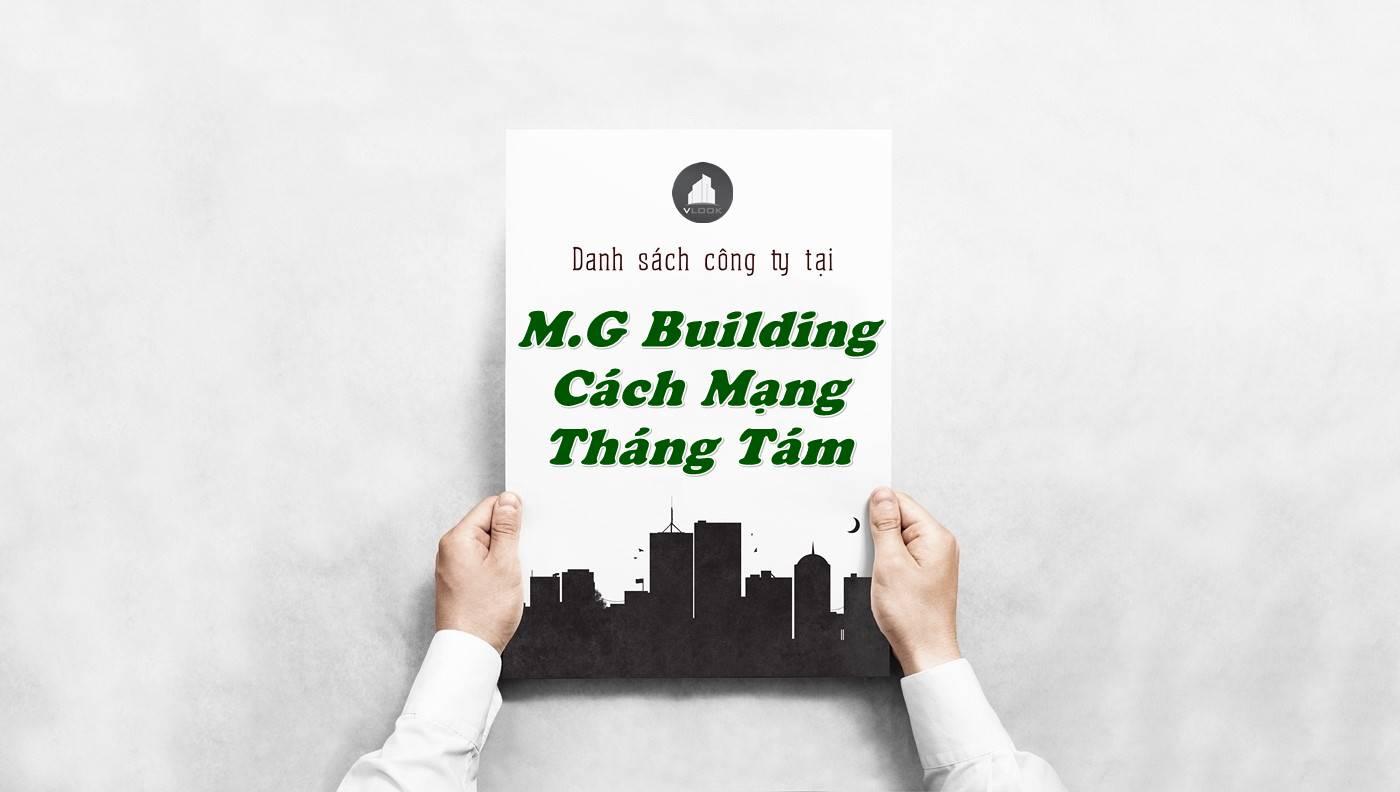 Danh sách công ty tại tòa nhà M.G Building Cách Mạng Tháng Tám, Quận Tân Bình