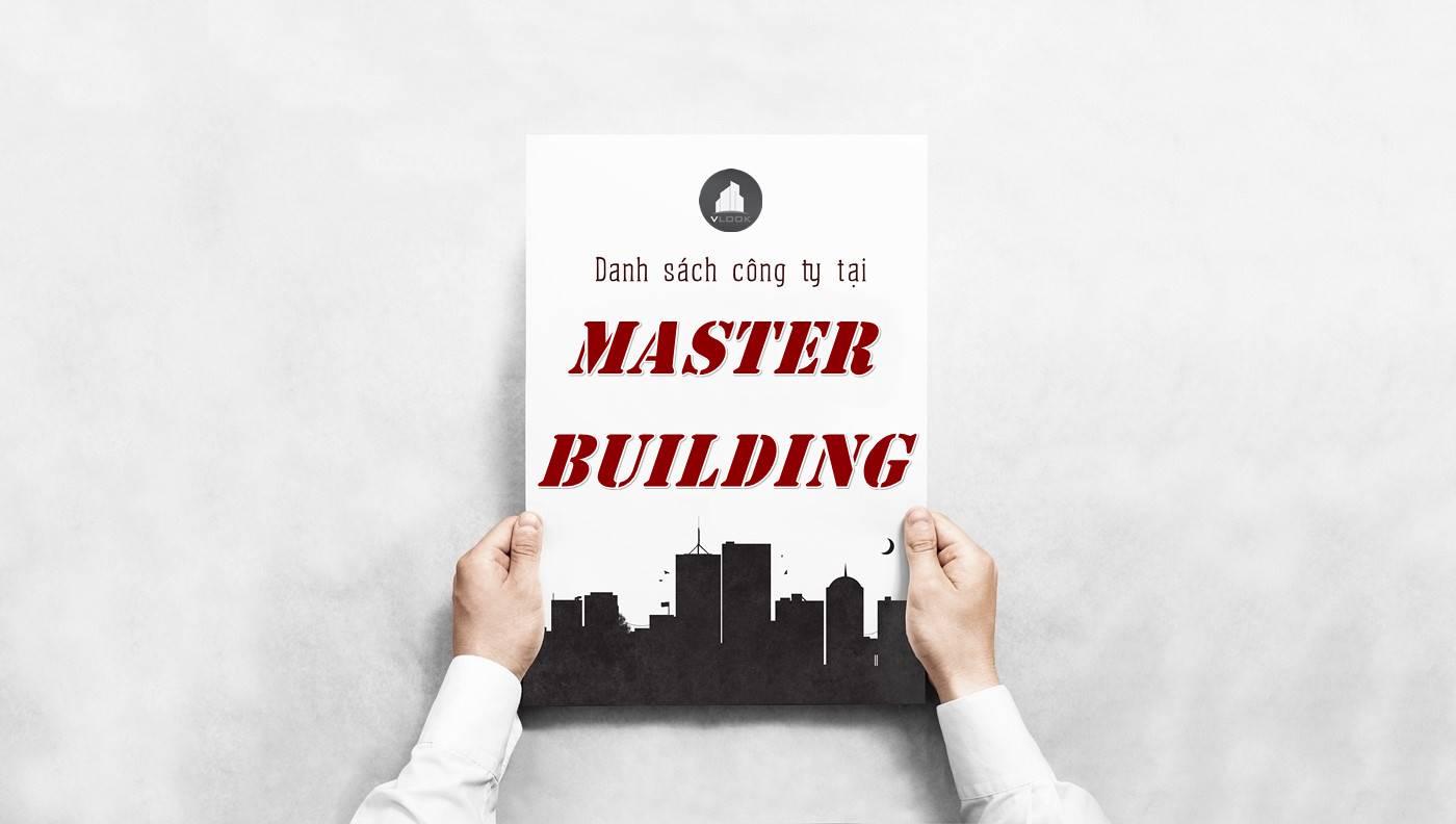 Danh sách công ty tại tòa nhà Master Building, Quận 3
