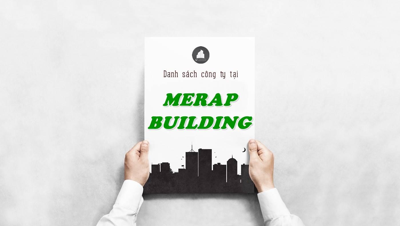 Danh sách công ty tại tòa nhà Merap Building, Quận 10