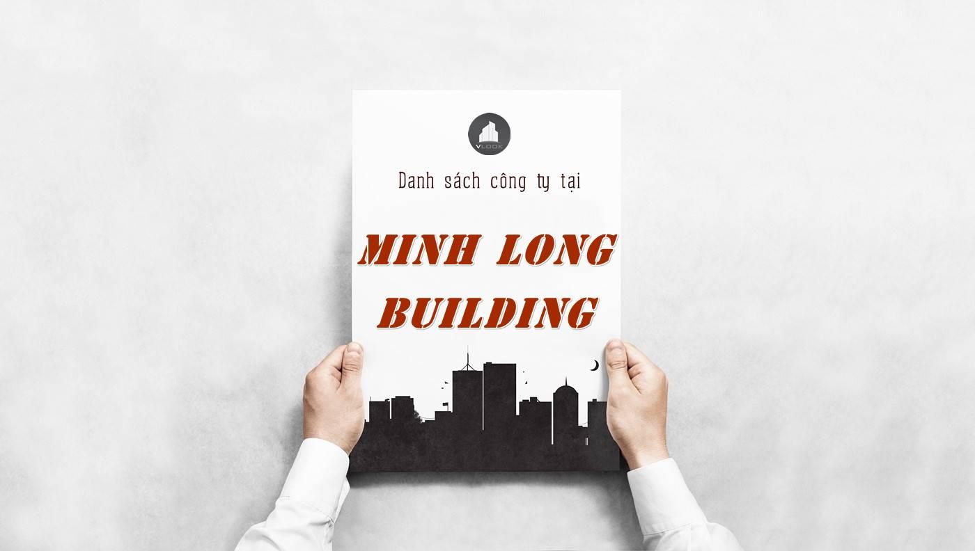 Danh sách công ty tại tòa nhà Minh Long Building, Quận 3
