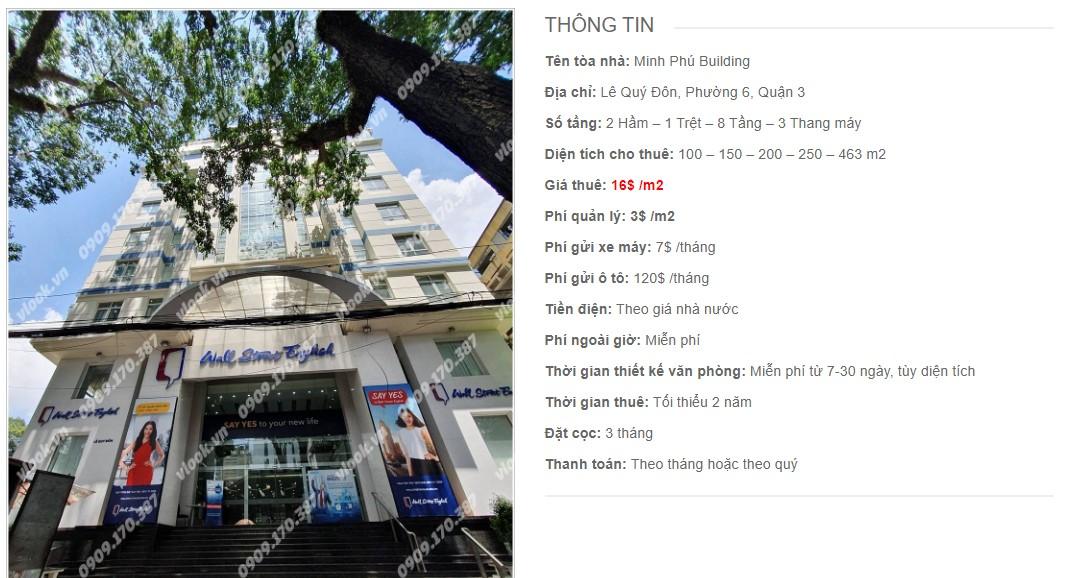 Danh sách công ty tại cao ốc Minh Phú Building, Quận 3