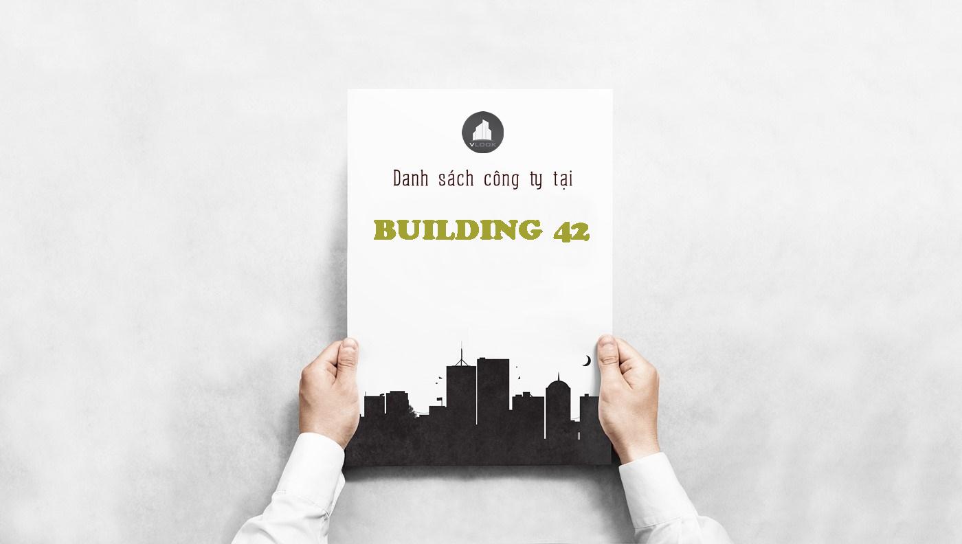 Danh sách công ty thuê văn phòng tại Building 42, Đồng Nai, Quận 10