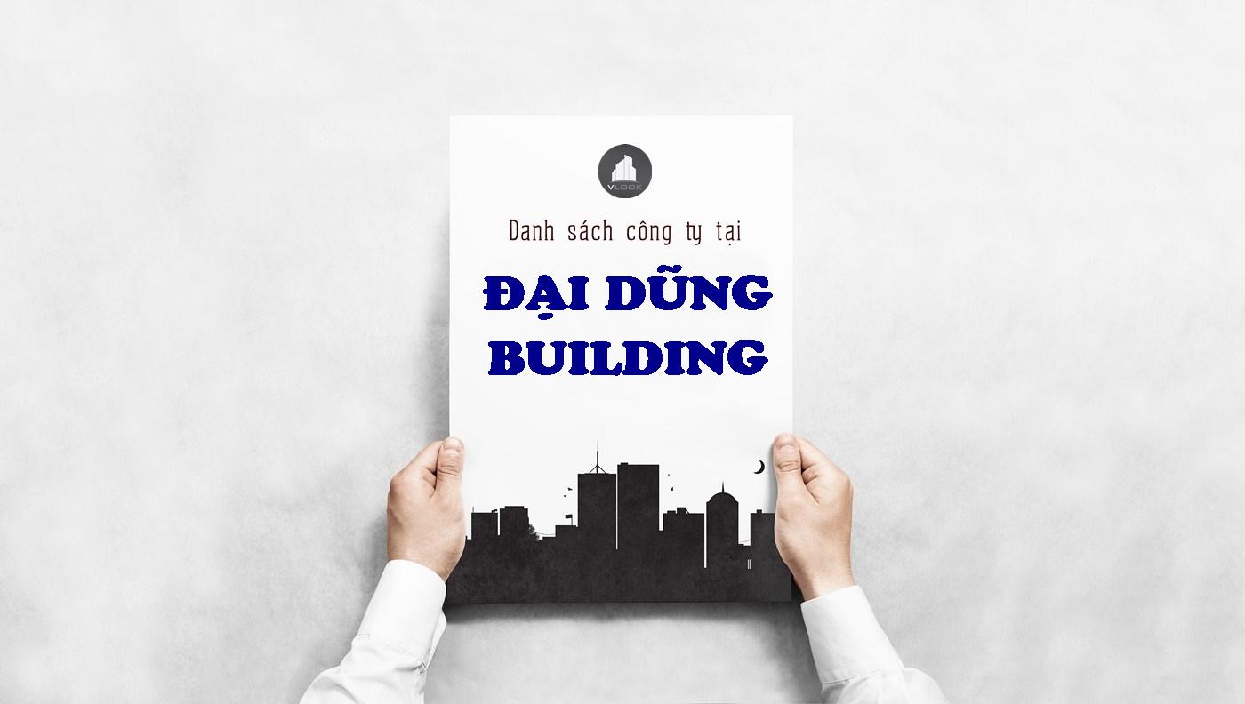 Danh sách công ty tại tòa nhà Đại Dũng Building, Bạch Đằng, Quận Tân Bình