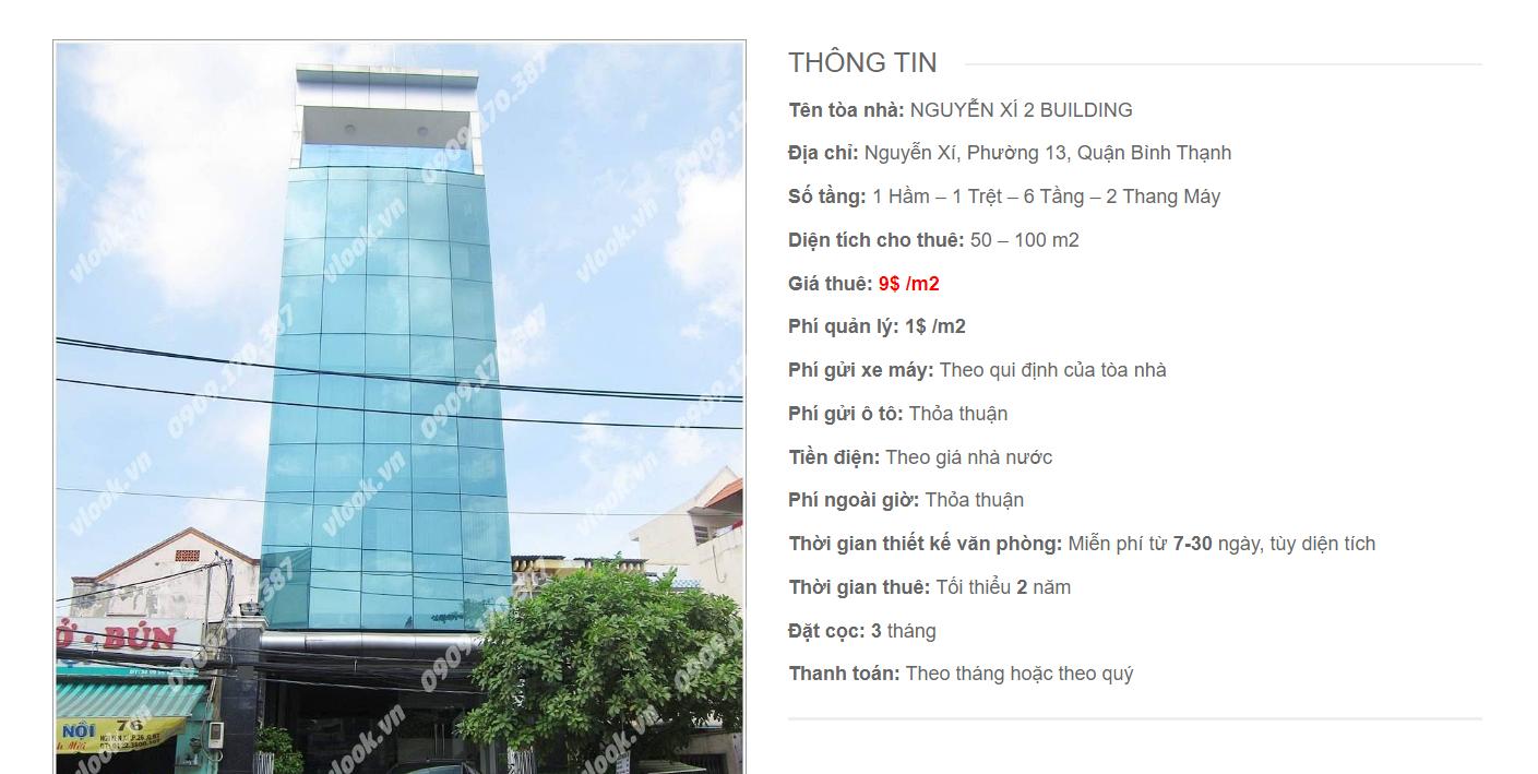 Danh sách công ty tại tòa nhà Nguyễn Xí II Building , Quận Bình Thạnh