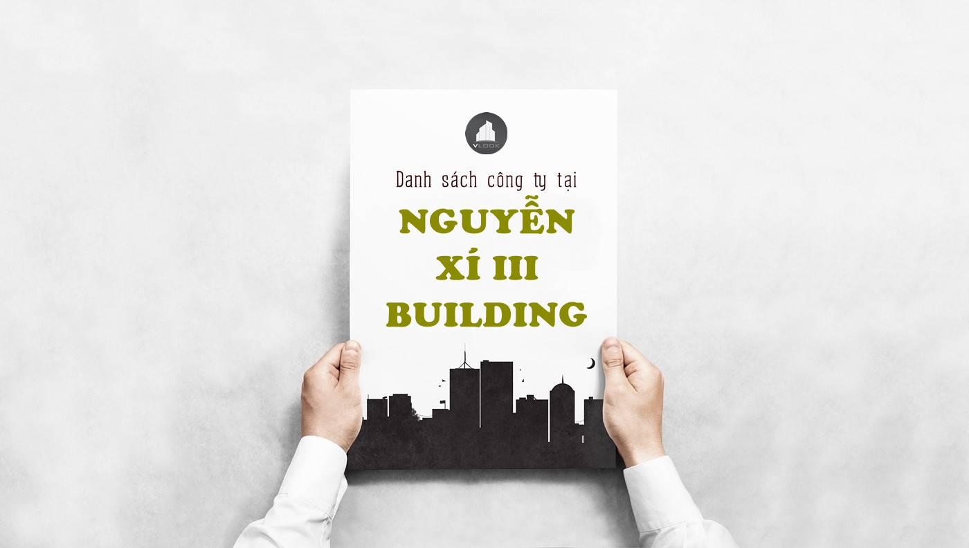 Danh sách công ty thuê văn phòng tại Nguyễn Xí 3 Building, Quận Bình Thạnh