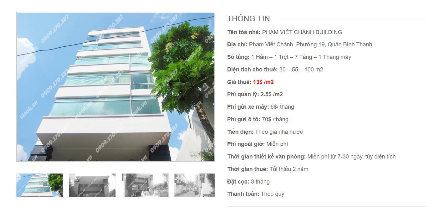 Danh sách công ty thuê văn phòng tại Phạm Viết Chánh Building, Quận Bình Thạnh