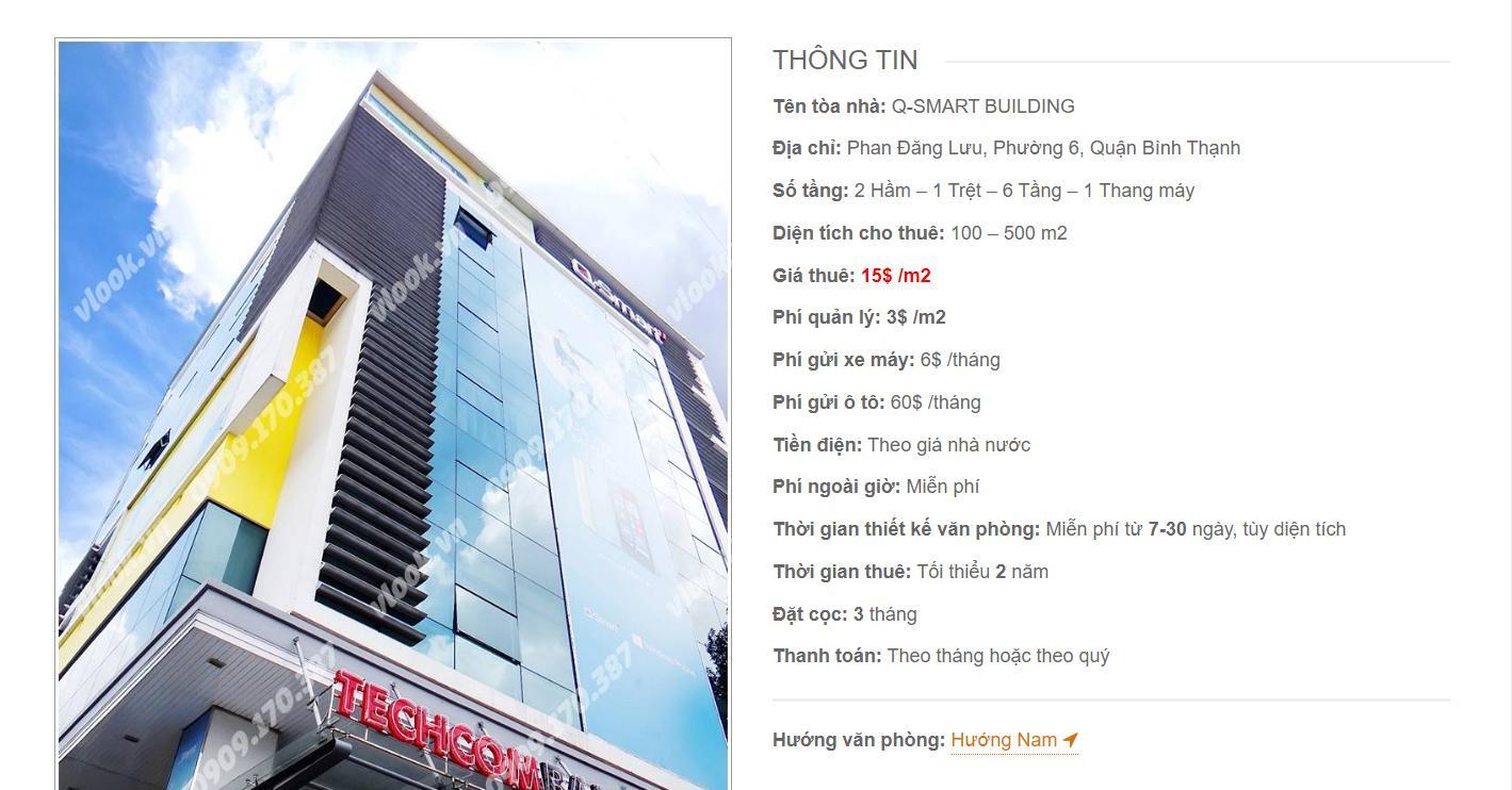 Danh sách công ty thuê văn phòng tại Q-Smart Building, Phan Đăng Lưu, Quận Bình Thạnh